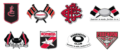 Essendon Bombers Football Club Logo Evolution