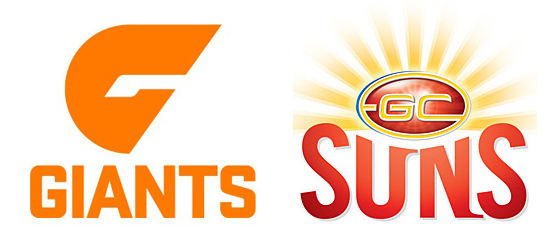 Gold Coast Suns and GWS Giants Logos