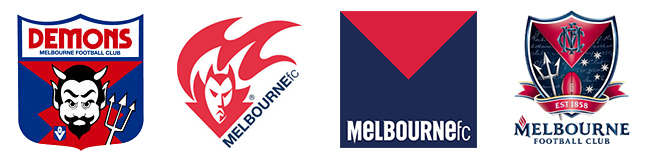 Melbourne Demons Football Club Logo Evolution