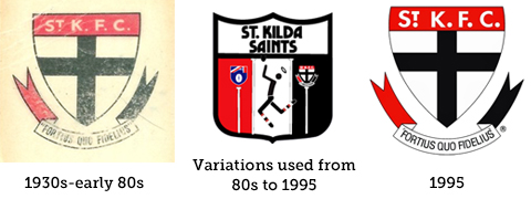 St Kilda Saints Logo Evolution